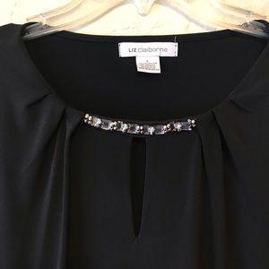 Liz Claiborne Tops - Liz Claiborne Black Long Sleeve Blouse